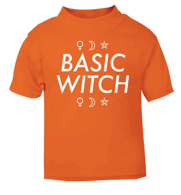 Basic witch 1 orange baby toddler Tshirt 2 Years