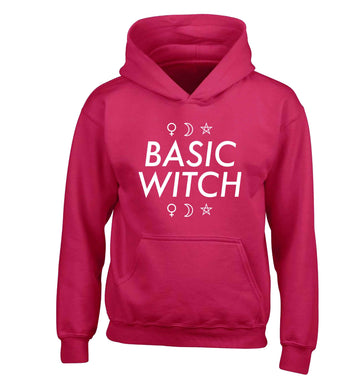 Basic witch 1 children's pink hoodie 12-13 Years