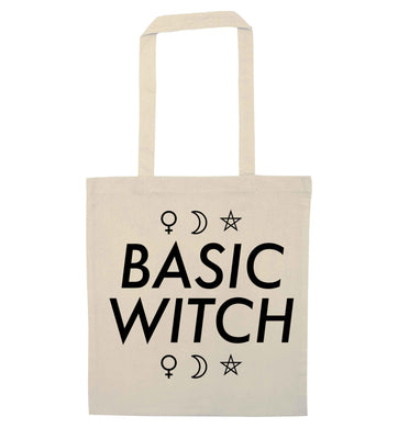 Basic witch 1 natural tote bag