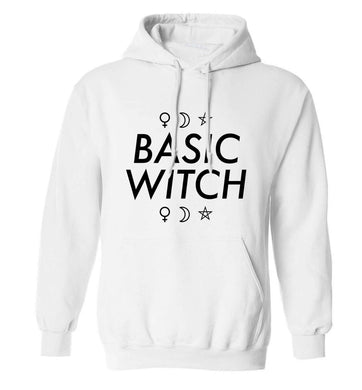 Basic witch 1 adults unisex white hoodie 2XL