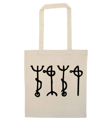 Draumstafir staves natural tote bag