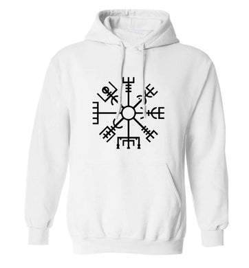 Vegv'sir wayfinder adults unisex white hoodie 2XL