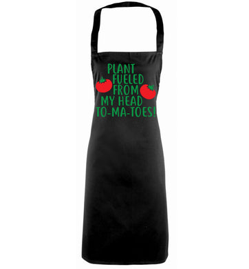 Plant fueled from my head to-ma-toes black apron