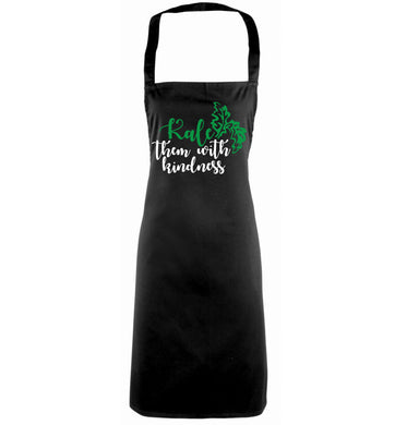 Kale them with kindness black apron