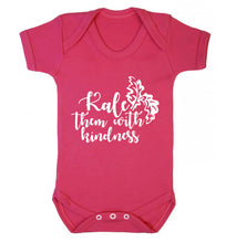 Kale them with kindness Baby Vest dark pink 18-24 months
