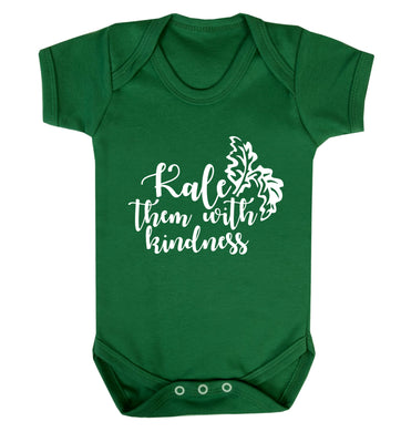 Kale them with kindness Baby Vest green 18-24 months