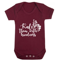 Kale them with kindness Baby Vest maroon 18-24 months