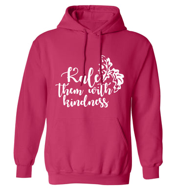 Kale them with kindness adults unisex pink hoodie 2XL