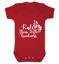 Kale them with kindness Baby Vest red 18-24 months