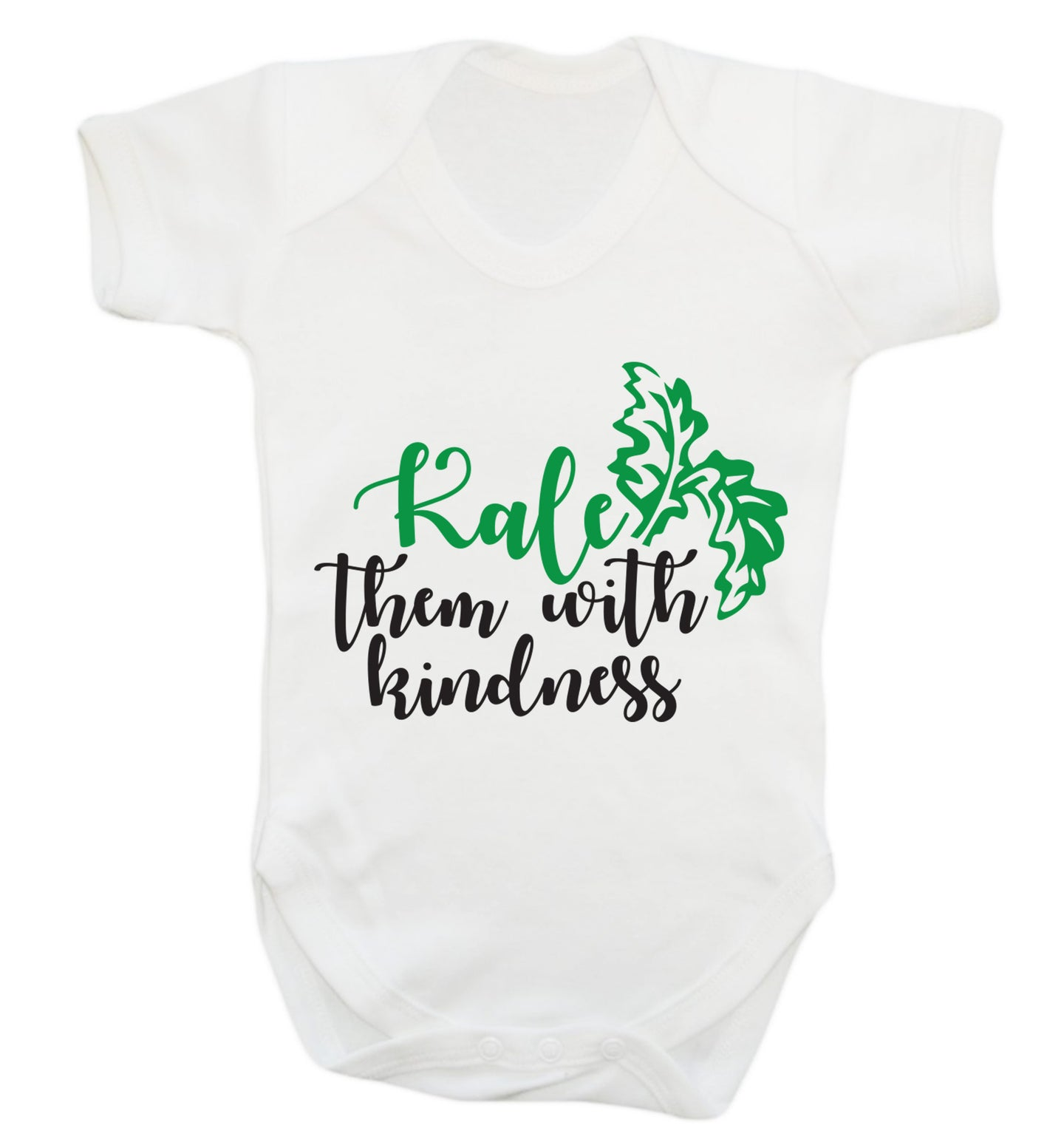 Kale them with kindness Baby Vest white 18-24 months