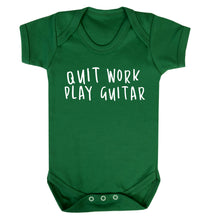 Quit work play guitar Baby Vest green 18-24 months