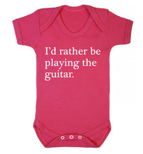 I'd rather be playing the guitar Baby Vest dark pink 18-24 months