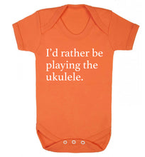 I'd rather by playing the ukulele Baby Vest orange 18-24 months