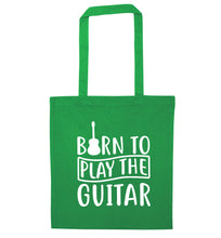 Born to play the guitar green tote bag