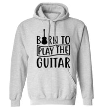 Born to play the guitar adults unisex grey hoodie 2XL