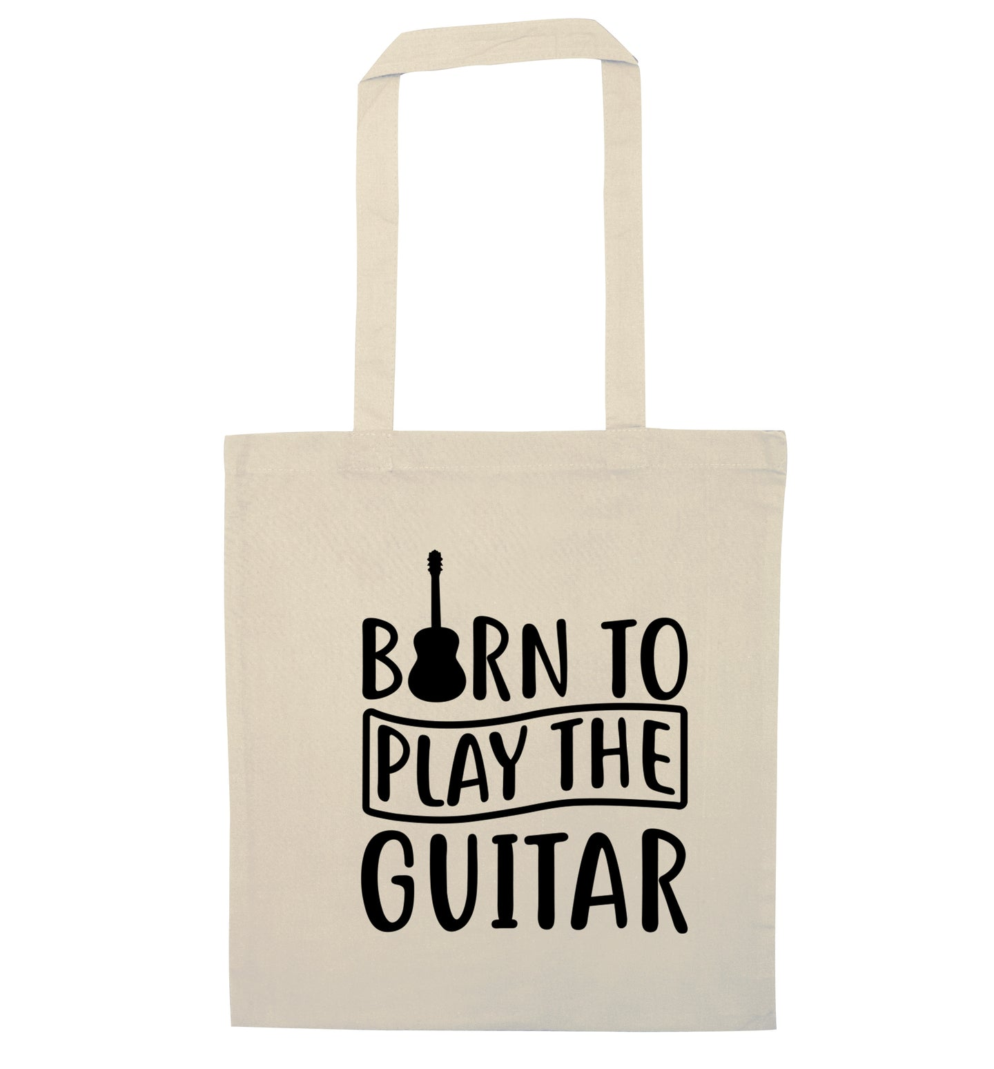 Born to play the guitar natural tote bag