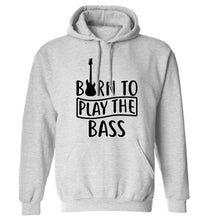 Born to play the bass adults unisex grey hoodie 2XL