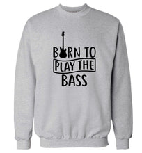 Born to play the bass Adult's unisex grey Sweater 2XL