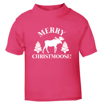 Merry Christmoose pink Baby Toddler Tshirt 2 Years