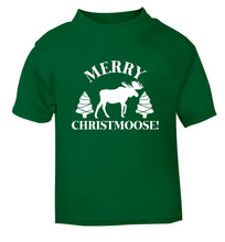 Merry Christmoose green Baby Toddler Tshirt 2 Years