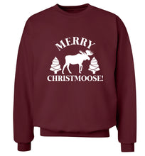 Merry Christmoose Adult's unisex maroon Sweater 2XL