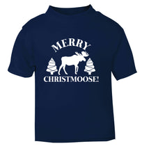 Merry Christmoose navy Baby Toddler Tshirt 2 Years