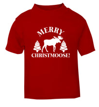 Merry Christmoose red Baby Toddler Tshirt 2 Years