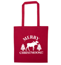 Merry Christmoose red tote bag