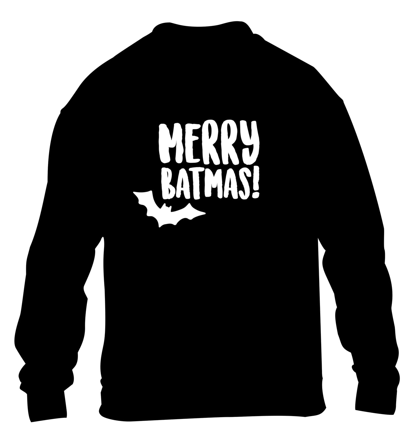 Merry Batmas children's black sweater 12-14 Years