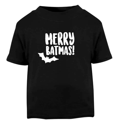 Merry Batmas Black Baby Toddler Tshirt 2 years