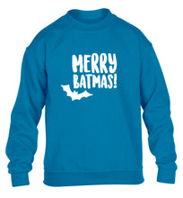 Merry Batmas children's blue sweater 12-14 Years
