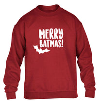 Merry Batmas children's grey sweater 12-14 Years