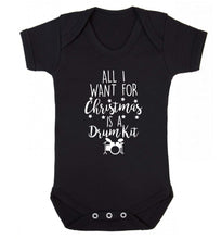 All I want for Christmas is a drum kit! Baby Vest black 18-24 months
