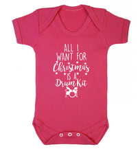 All I want for Christmas is a drum kit! Baby Vest dark pink 18-24 months