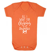 All I want for Christmas is a drum kit! Baby Vest orange 18-24 months