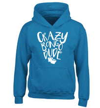 Crazy bongo dude children's blue hoodie 12-14 Years