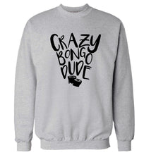 Crazy bongo dude Adult's unisex grey Sweater 2XL