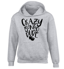 Crazy bongo dude children's grey hoodie 12-14 Years
