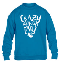 Crazy bongo lady children's blue sweater 12-14 Years