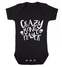 Crazy bongo player Baby Vest black 18-24 months