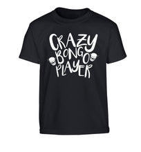 Crazy bongo player Children's black Tshirt 12-14 Years