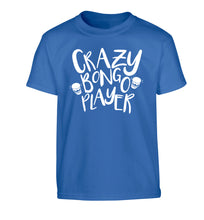 Crazy bongo player Children's blue Tshirt 12-14 Years