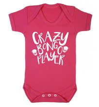 Crazy bongo player Baby Vest dark pink 18-24 months