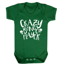 Crazy bongo player Baby Vest green 18-24 months