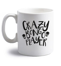 Crazy bongo player right handed white ceramic mug