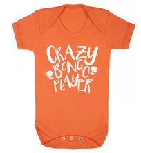Crazy bongo player Baby Vest orange 18-24 months