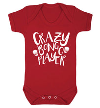 Crazy bongo player Baby Vest red 18-24 months