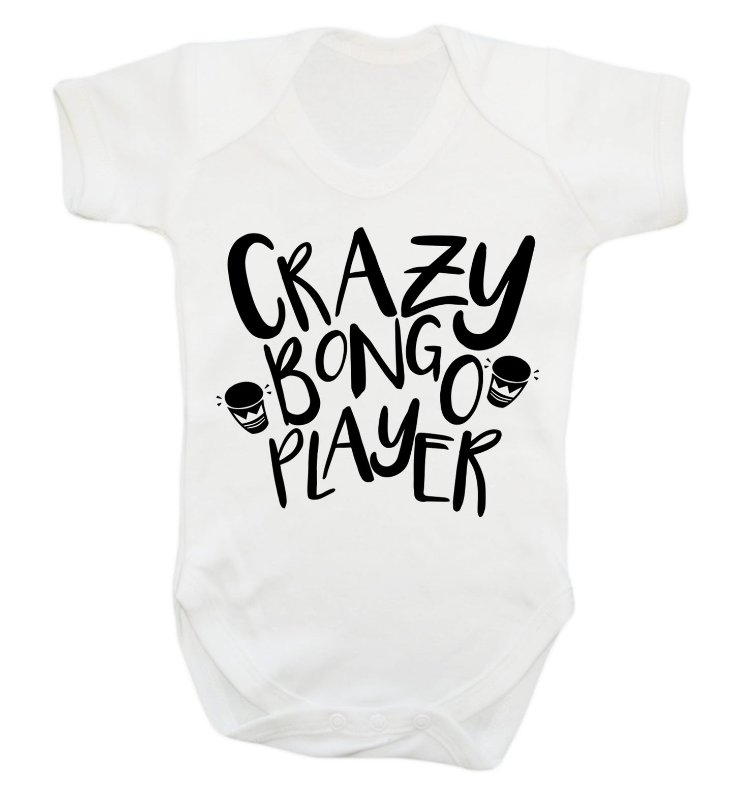 Crazy bongo player Baby Vest white 18-24 months