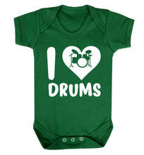 I love drums Baby Vest green 18-24 months