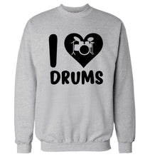 I love drums Adult's unisex grey Sweater 2XL